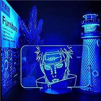 ナルトの痛みの3D夜ライト家の装飾ランプアニメフィギュアランパラベッドサイドの装飾照明漫画のファンライトナルトンバンダイランプ-リモコン