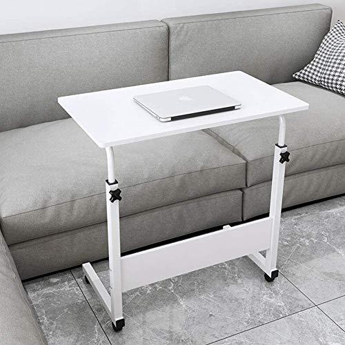 Suge Computadora de Escritorio Mesa de Ordenador portátil de Escritorio de pie Moderna Altura Elevador portátil estación de Trabajo de Escritorio Ajustable (Color : 80x40cm(31x16inch)-White)
