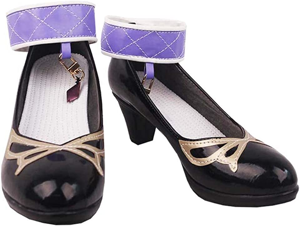 Mondstadt LisaMinci Cosplay Ankle Strap Heel Shoes S008