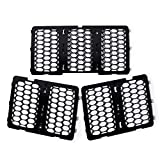 Anzio Front Honeycomb Grill Inserts Compatible with 2014-2016 Grand Cherokee (Black)