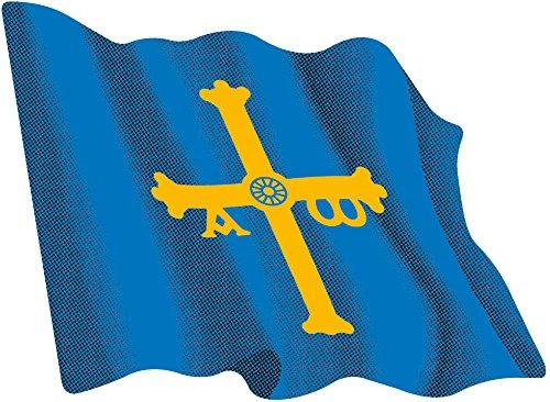 Pegatina Bandera Ondeante Asturias