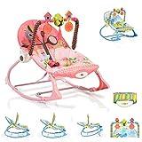 Cangaroo Babywippe Jamaica 63562, verstellbar, mit Spielbogen, Musik, Vibration rosa