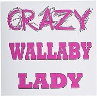 ブロンドDesigns Crazy親指ポインティングBack Lady–Crazy Wallaby Lady–グリーティングカード Set of 6 Greeting Cards