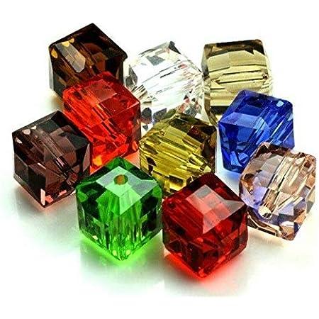Pack Von 30 Perlen Facettiert 4mm aus Kristall Von Böhmen Schwarz