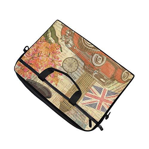 Linomo Laptoptasche / Laptoptasche, Vintage-Motiv London, britisches Zeichen, für Laptops mit 33 cm (13 Zoll) (14 Zoll) und 14,5 Zoll)