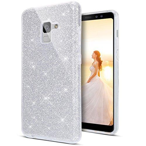 Case Coque Miroir Glitter Bling Paillette Diamant Housse avec Anneau Support Ring Bague Etui Antichoc Silicone Case pour Galaxy J3 2016//J320-Or Rose Hancda Coque pour Samsung Galaxy J3 2016//2015