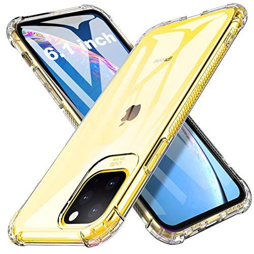 iBetter für iPhone 11 Hülle, Soft TPU Ultradünn Cover [Slim-Fit] [Anti-Scratch] [Shock Absorption] passt für iPhone 11 Smartphone, klar