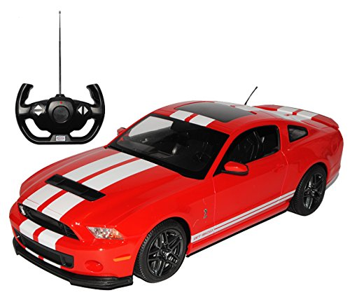 rastar Ford Mustang Shelby GT500 Coupe Rot 2009-2014 RC Funkauto mit Licht 1/14 Modell Auto