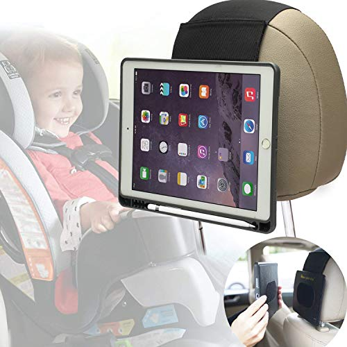 TYTX Car Headrest Mount Holder for Apple iPad Mini 4/5, Ipad Case with Pen Holder, Fast-Attach Fast-Release Edition