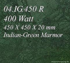 Calefacción por infrarrojos–Calefactor de infrarrojos eléctrico (mármol Magma Calefacción 400W 04. IG.470R con termostato con 2luces de control, interruptor y ajuste de temperatura Control