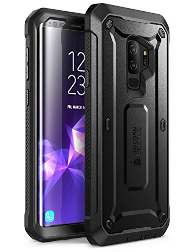 Supcase Samsung Galaxy S9 Plus Hülle Unicorn Beetle PRO Handyhülle Robust Case Outdoor Schutzhülle Cover mit integriertem Displayschutz, Schwarz