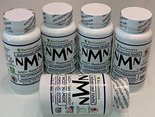 Revgenetics-NMN 60 Kapseln 4 +1 GRATIS, Nicotinamid-Mononicleotid, Schnelle Lieferung aus der EU mit GLS