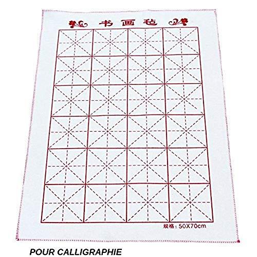 EMI Craft Feutrine-Feutre-Tapis Calligraphie Chinoise-Felt Chinese Calligraphy (70cm x 50cm) pour Sumi Peinture de Calligraphie Chinoise
