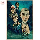 ganlanshu Kinderfilm Leinwand Kunstdruck Poster Wandbild Hauptdekoration Wanddekoration,Rahmenlose Malerei-50X75cm