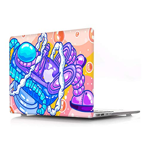 AJYX Plastic Hard Shell Case Only Compatible with Old Version MacBook Pro 13 Inch (Model: A1278, with CD-ROM) Release Early 2012/2011/2010/2009/2008 Laptop Matte Cover Case, Cartoon Astronaut