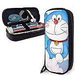 Estuche de lápices Flying Doraemon de gran capacidad, bolsa de maquillaje con doble cremallera para la escuela/oficina `A4