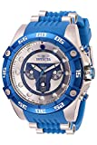 Invicta Men's Star Wars Jango Fett 52mm Stainless Steel and Silicone Chronograph Quartz Watch, Blue (Model: 27966)