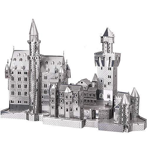 Piececool Metal - Lucchetto per puzzle 3D, modello Neuschwanstein-Metal per risvegliare