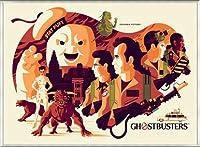 ポスター トム ウェイレン Ghostbusters ゴーストバスターズ 限定375枚 手書きナンバリング入り 額装品 アルミ製ベーシックフレーム(ライトブロンズ)