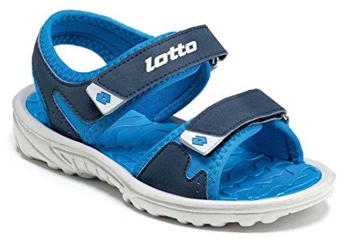 Lotto Las Rochas III Cl, Sandlai Sportivi Unisex-Bambini, Blu (Blu Avi/Blu ATL 020), 30 EU