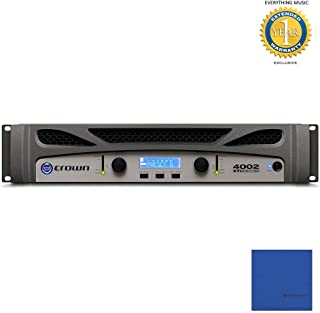 Crown Audio XTi 4002 2-channel, 1200W @ 4Ω Power Amplifier with Microfiber and 1 Year Everything Music Extended Warranty