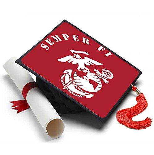 Tassel Toppers Marine Corps - Graduation Caps for Future Marines - Semper Fi - Decorated Grad Caps (Semper Fi)