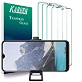 KAREEN [4-Pack] Tempered Glass Film for Samsung Galaxy A10E, Galaxy A20E Screen Protector, Bubble Free, Touch Sensitive, Anti Scratch, 2.5D Edge, 9H Hardness With Easy Installation Tray Phone Stand