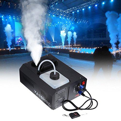 MuGuang 1500W DMX Vertikal-Nebelmaschine Rauchmaschine 2L mit Fernbedienung für Stage Wedding Disco DJ Bar Party Sprühen bis ca. 5m
