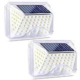 ROVLAK LED Solar Luces Exterior Super Brillante Impermeable Noche Lámpara Inalámbrico Movimiento Sensor Seguridad Luces con 270° Amplio Ángulo Solares Pared Luces para Jardín Patio Valla Garaje