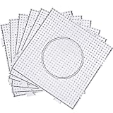 Maxdot 5 mm Large Square Fuse Beads Boards Clear Plastic Pegboards for Kids Craft Beads (12 Pieces)