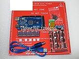 Mega 2560 R3 para arduino + 1 Uds RAMPS 1.4 controlador + 5 uds DRV8825 módulo de controlador paso a paso + 1 Uds PCB Heatbed MK2B kit de impresora 3D