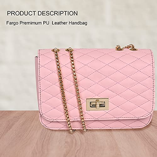 Fargo PU Leather Side Sling Bags For Women's Ladies (Pink_FGO-262)