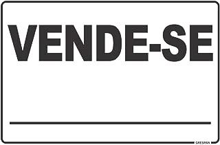 Placa de Sinalização Vende-Se, Grespan, Multicor, 20 x 30 cm, Pacote de 5