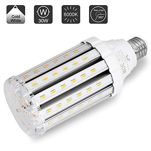 30W E27 LED Kaltweiss, Wenscha E27 LED Mais Birne Maiskolben Energiesparlampe Kaltweiss 6000K Ersatz 200W Halogen Glühbirne, E27 Led Lampe Beleuchtung Leuchtmittel 360°Abstrahlwinkel, nicht dimmbar