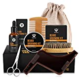 Beard Balm Kit MayBeau Beard Grooming & Trimming Kit for Men-Contains Unscented Beard