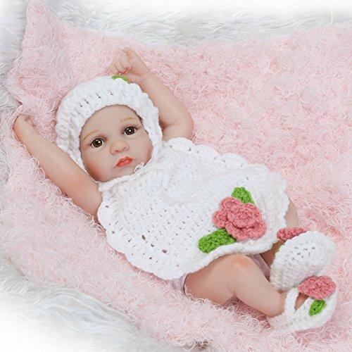 Decdeal Rinato Ragazza Bambola Bambino Bagno Giocattolo Silicone Bambola con Vestiti 10inch 25cm Realistico Regali Giocattolo