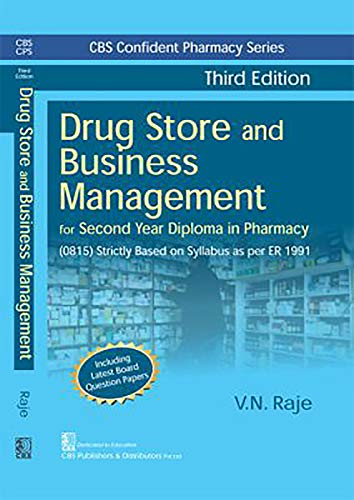 DRUG STORE AND BUSINESS MANAGEMENT + Pharmacology and Toxicology + Pharmaceutical Chemistry II for Second Year Diploma in Pharmacy (Set of 3 Books)