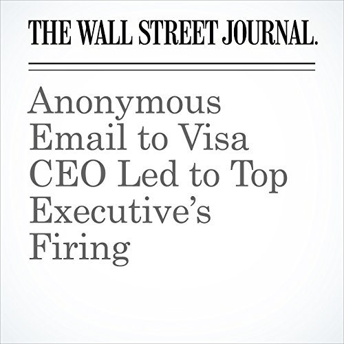Anonymous Email to Visa CEO Led to Top Executive's Firing copertina