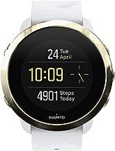 Suunto SS050053000 3 Fitness - Reloj Multideporte con GPS y pulsómetro incorporado, Pantalla Matricial, Unisex Adulto, Blanco/Dorado (Gold), Talla Única