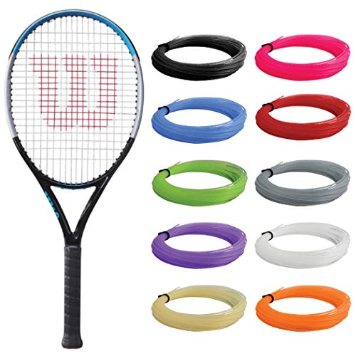 Wilson Ultra V3 Junior Tennis Racquet - (25 Inch) Strung with Blue Synthetic Gut Racket String - Great Racquet for Beginner Players