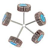 (10 piezas) OOTSR papel de lija aleta rueda 80 grano, pulido rueda de papel de lija para Taladro, amoladora, herramienta rotativa