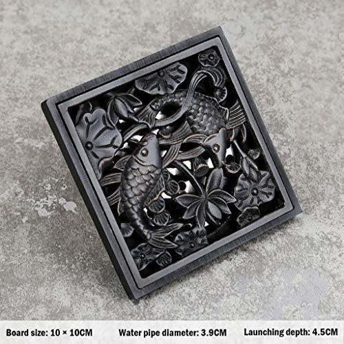 Zhedyi – zwart – hele koper-deodorant – afvoer-, afvoer-, douchecabine-, douchecabine
