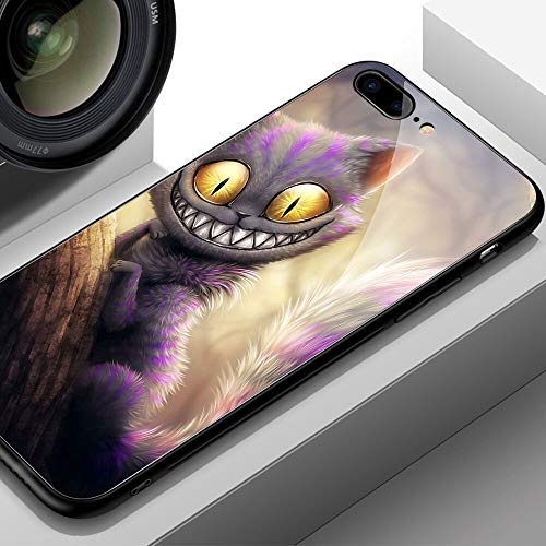 Phone Case - for I Phone 12/12 Mini/ 12 pro/ 12 pro max/Temapered Glass Hard Back Cheshire Cat Patterned Cover Phone Case 11 pro max 7 8 Plus X XR XS MAX - by NONOTY - 1 PCs