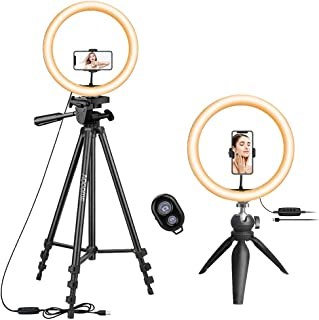 """10.2"""" Selfie Ring Light with 2 Phone Tripod Stands, led Ring Light with Tripod Stand, Selfie Ring Light for Phone Holder, ..."""