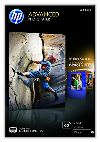 HP Q8008A - Papel fotográfico (250 g/m², Negro, Azul, Color blanco, 40 - 60%, 15 - 30 °C, 0 - 40 °C, 10 - 80%)