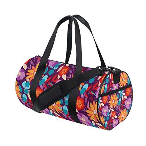 AJINGA Daisies - Bolsa de viaje decorativa con correas de mochila para gimnasio