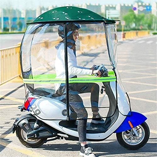 CRMY Cubierta De Toldo De Lluvia para Scooter De Movilidad, Cortina Transparente Completamente Cerrada, Cubierta De Lluvia para Sombrilla De Bicicleta Eléctrica Universal para Ciclismo