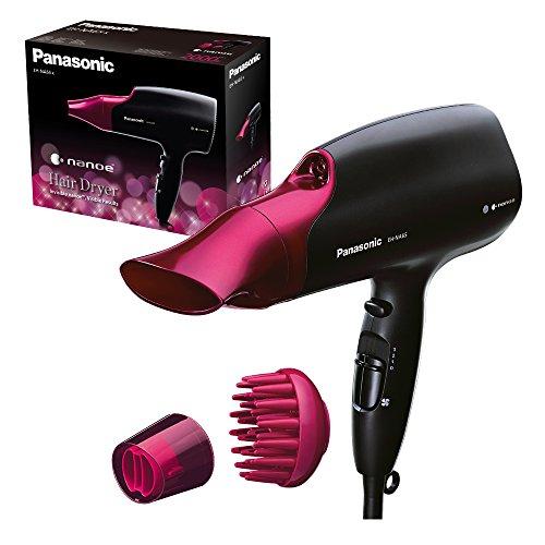 Panasonic Haartrockner EH-NA65 mit nanoe Technologie, mit 3 Temperatur- und 4 Geschwindigkeitseinstellungen, schwarz-pink