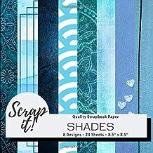Scrap It! Shades Blue Scrapbook Paper Pad - 8.5
