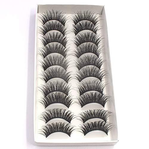 Easyeeasy 3D Stereoscopic Multilayer Falsche Wimpern Dicke natürliche handgefertigte Wimpern im Stil von ganzen Streifen Falsche Wimpern für Gilr Beauty